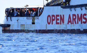 Migrants à bord de l'Open Arms
