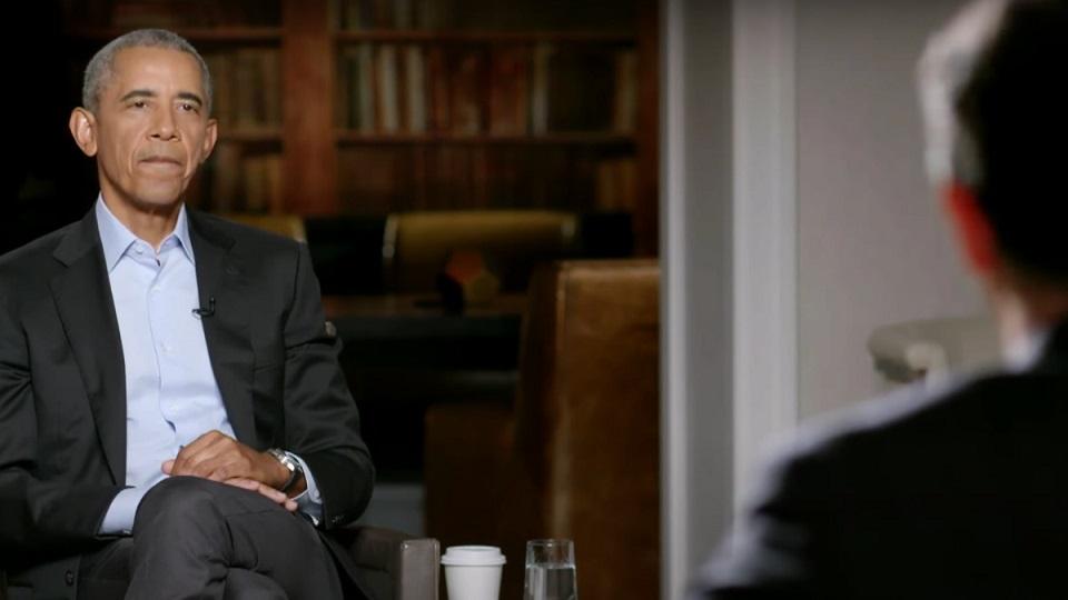 Barack Obama lors de son interiew par James Corden